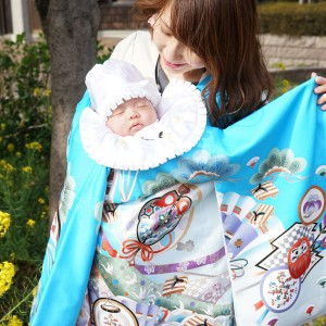 お宮参りの赤ちゃんの祝い着の選び方は?着物はどうやって用意する?